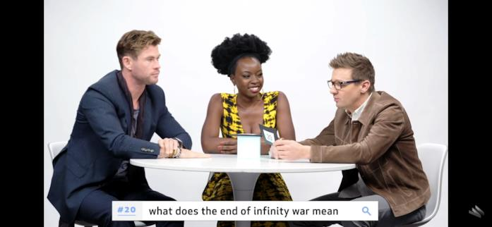 Gli attori cercano di rispondere alla domanda sul significato del finale di Infinity War