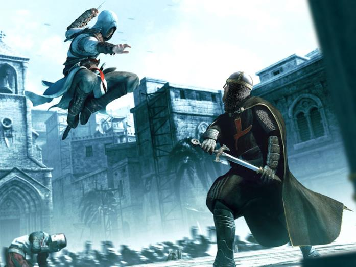Altair in azione in Assassin's Creed