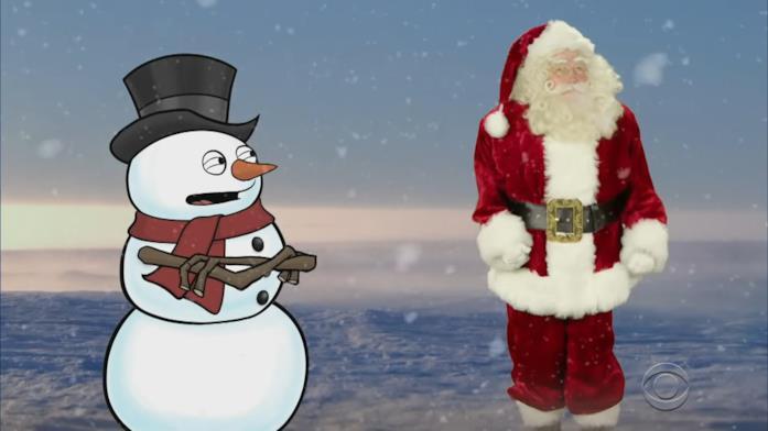 Babbo Natale impara il kung fu da un pupazzo di neve