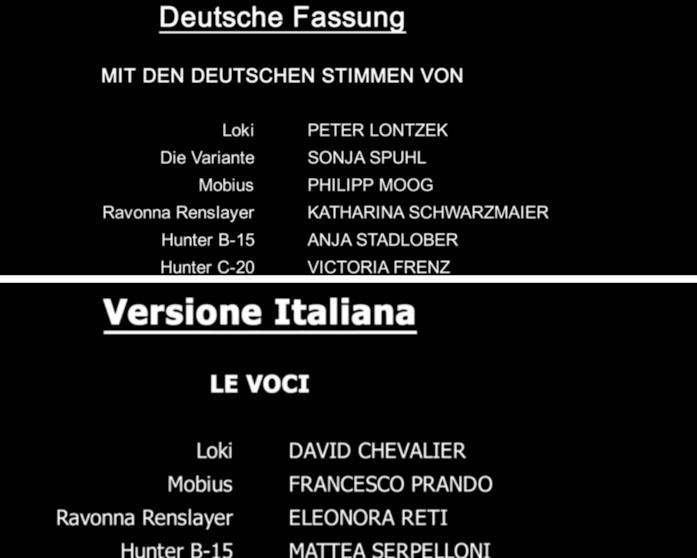 L'elenco dei doppiatori tedeschi e italiani di Loki