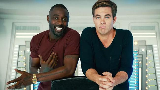 Idris Elba e Chris Pine sul set di Star Trek Beyond
