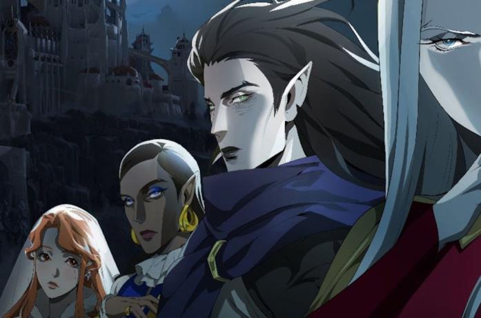 Un'immagine dei personaggio della terza stagione di Castlevania