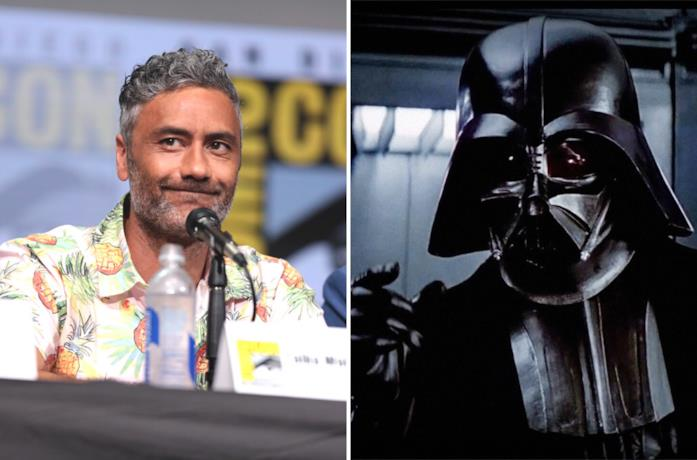 A sinistra Taika Waititi e a destra Darth Vader