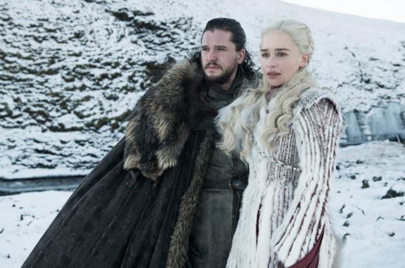 Jon Snow e Daenerys Targaryen in Game of Thrones 8