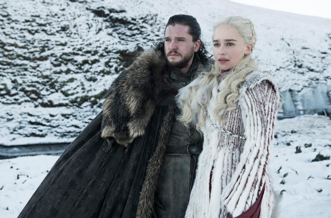 Jon Snow e Daenerys Targaryen in Game of Thrones 8