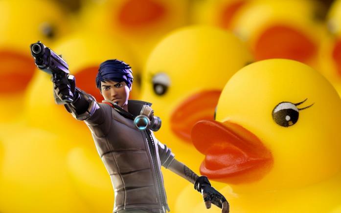 Le paperelle di gomma invadono Fortnite di Epic Games