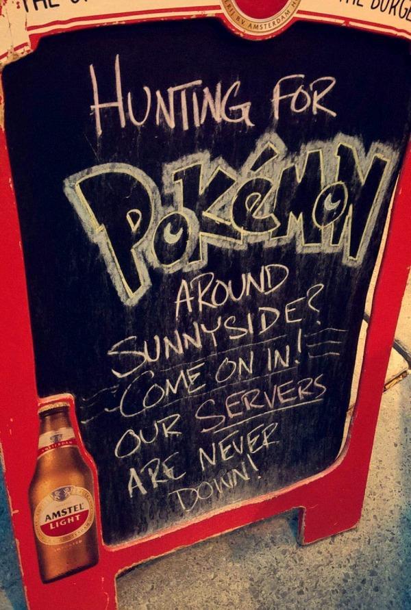 I bar che sfruttano la popolarità di Pokémon GO