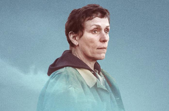 Frances McDormand nel poster di Nomadland
