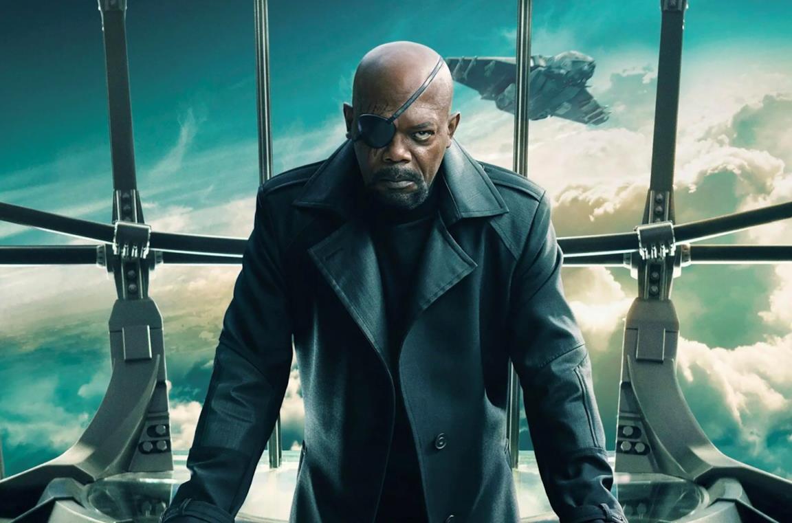Samuel L. Jackson è Nick Fury in un'immagine promozionale