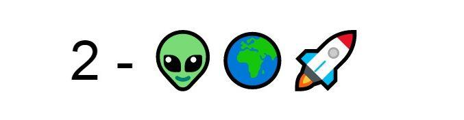 Emoji Alieno mondo razzo
