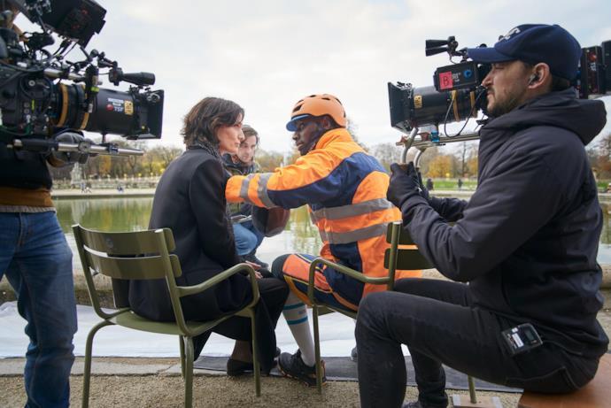 Le riprese della serie Lupin con Omar Sy