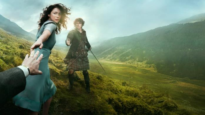 Caitriona Balfe e Sam Heughan in Outlander
