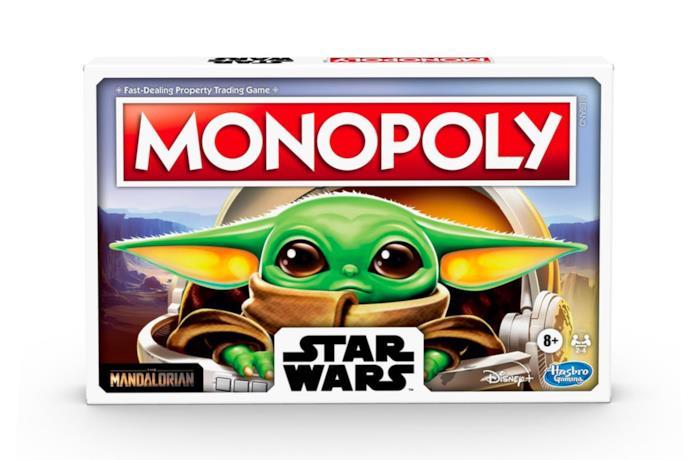 Un'immagine della scatola del Monopoly di Baby Yoda
