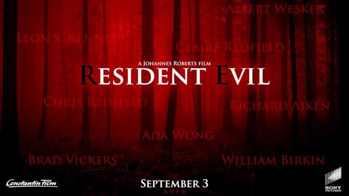 Il banner ufficiale del film di Resident Evil
