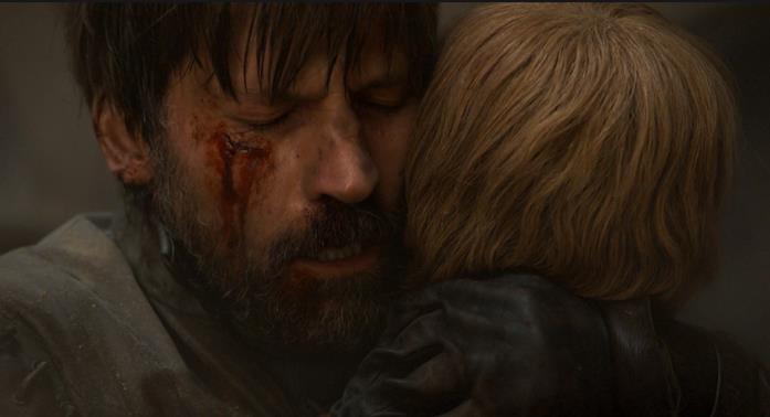 Nikolaj Coster-Waldau e Lena Headey nei momenti finali del loro ruolo in Game of Thrones