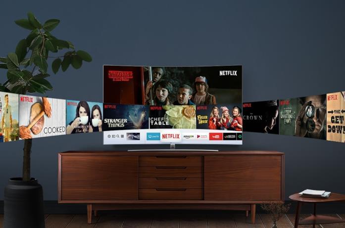 Netflix in esecuzione su una smart TV Samsung