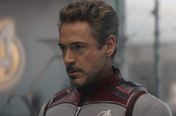 Robert Downey Jr. in una scena di Avengers: Endgame
