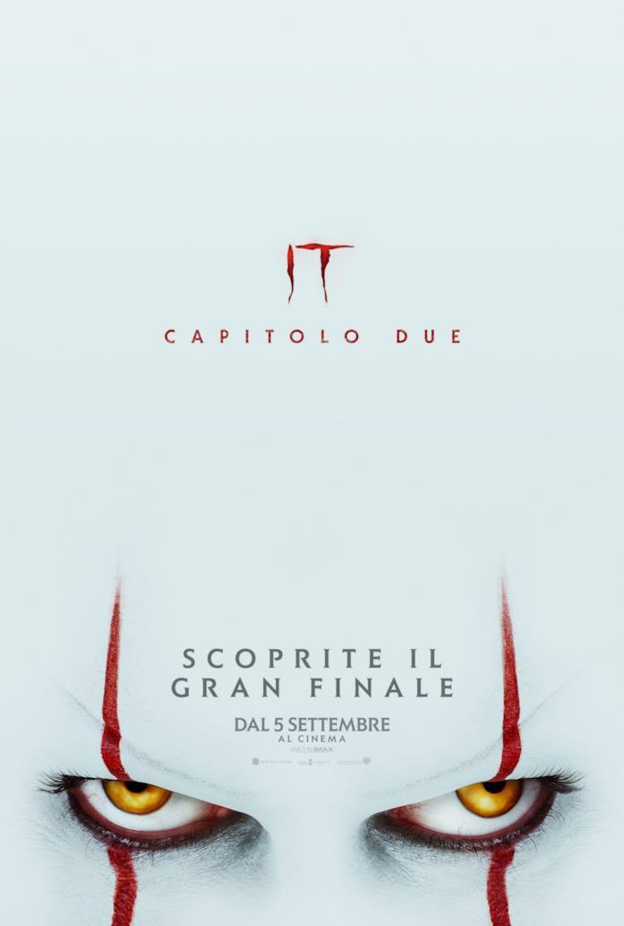 Gli occhi di Pennywise nel poster italiano di IT 2