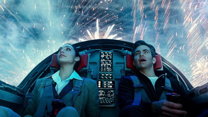 Diana e Steve sul jet