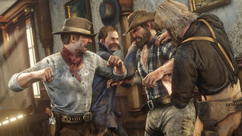 Una scazzottata in Red Dead Redemption 2