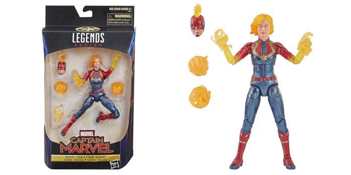 Action Figure Hasbro Marvel Legends dedicata a Captain Marvel forma Binary