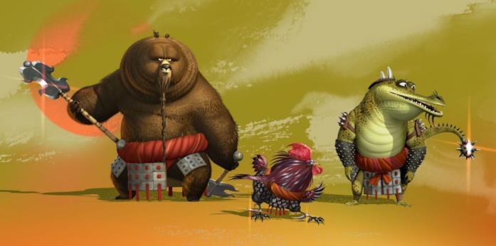 Maestro Orso, Croc e Pollo