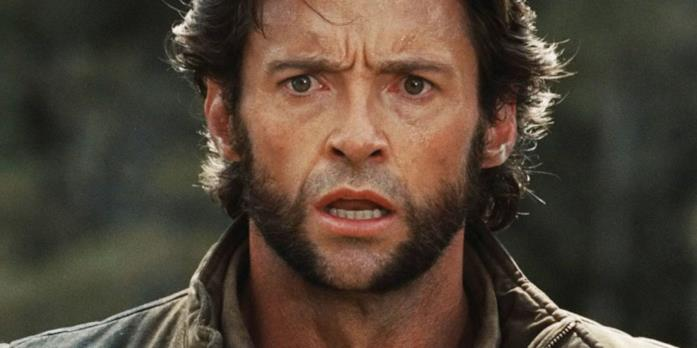 Un primo piano di Hugh Jackman in X-Men Le Origini - Wolverine