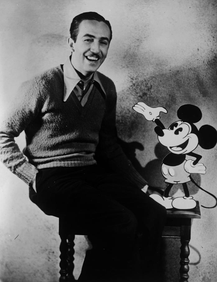 Walt Disney in primo piano