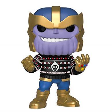 Funko- Pop Bobble in Vinile Marvel: Holiday-Thanos Figura da Collezione, Multicolore, 43336