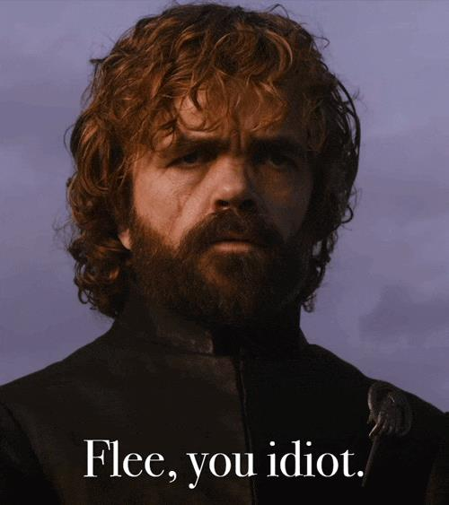 Tyrion guarda Jaime marciare verso Daenerys
