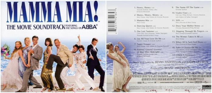 La colonna sonora di Mamma Mia!