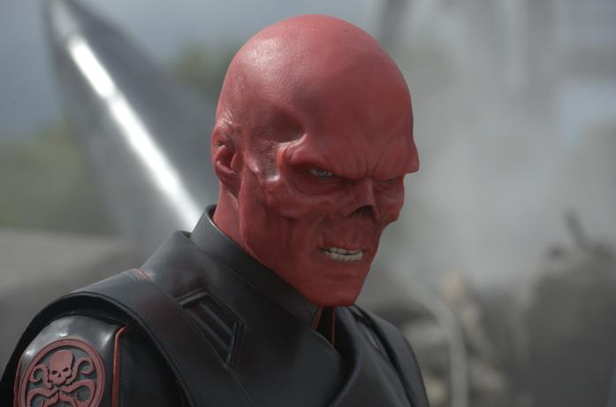 Primo piano di Teschio Rosso in Captain America: Il primo Vendicatore