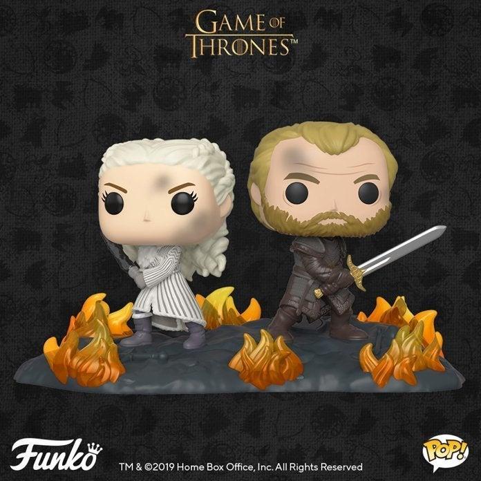 Il Funko Pop! della Lunga Notte di Daenerys e Jorah in Game of Thrones 8