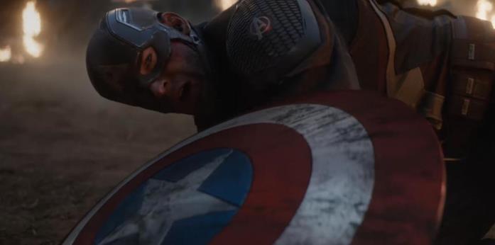 Captain America in una scena di Avengers: Endgame