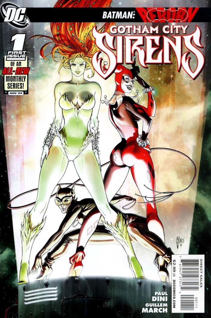 Harley Quinn, Poison Ivy e Catwoman nella copertina dell'albo 1 di Gorham City Sirens