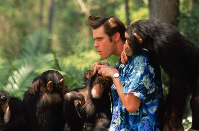 Una scena del film Ace Ventura: Missione Africa