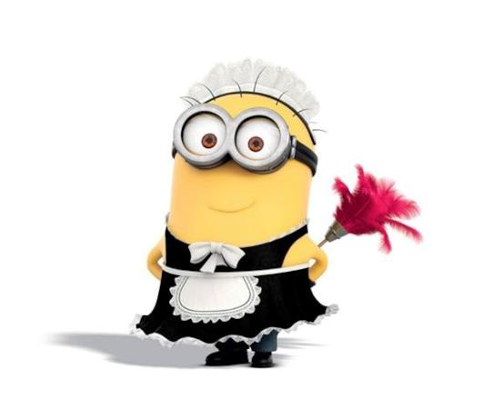 Il Minion Phil, vestito da cameriera
