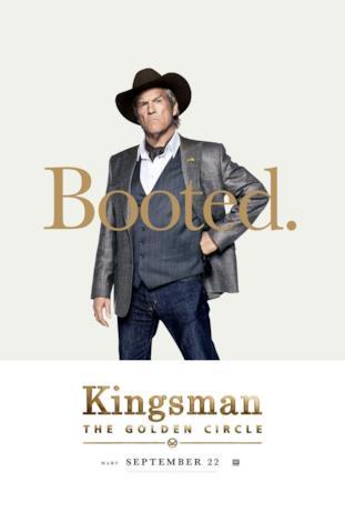Agente Champagne (Jeff Bridges) nel character poster di Kingsman 2