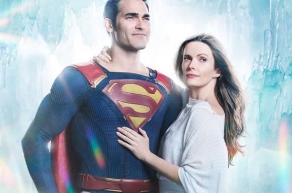 Superman e Lois in una foto promozionale di The CW