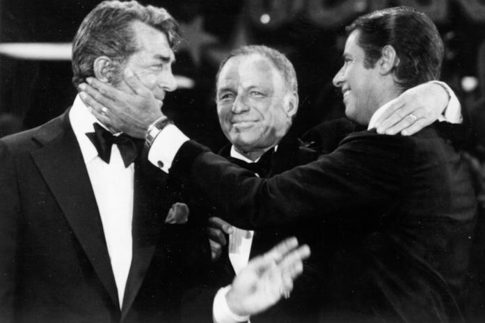Dean Martin con Frank Sinatra e Jerry Lewis