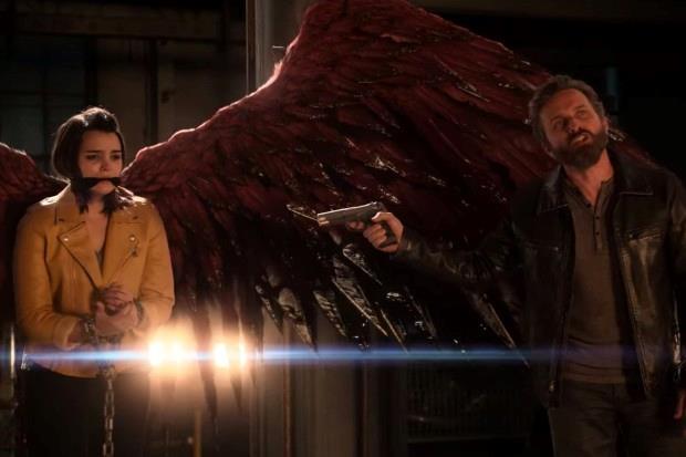 Una scena dal finale di Lucifer, Rory rapita da Le Mec