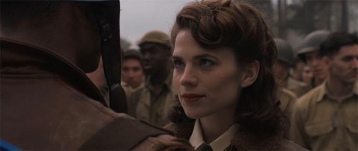 Peggy Carter in una scena del primo Captain America