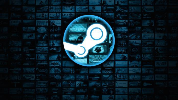 Il logo del rivenditore online Steam