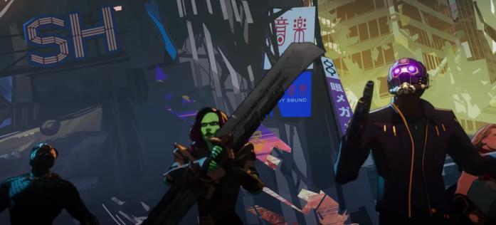 Black Panther, Gamora, Star-Lord e Thor