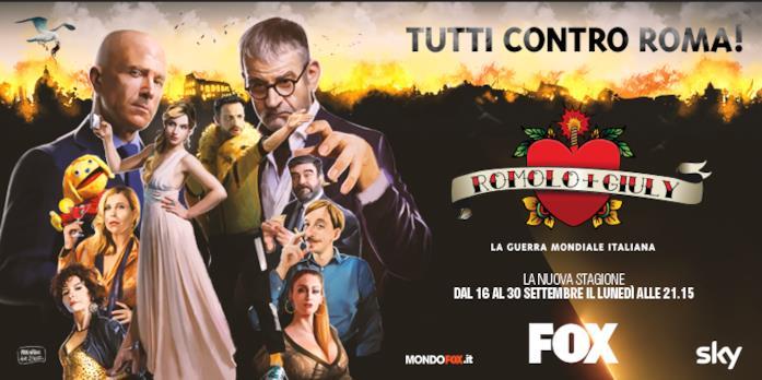 Il poster della seconda stagione di Romolo + Giuly