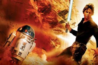 R2-D2 e Luke Skywalker in una immagine promozionale di Star Wars