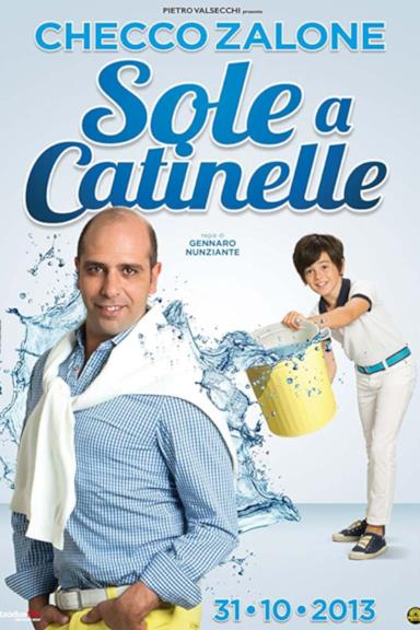 Poster Sole a catinelle
