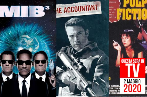 Film stasera in TV: Pulp Fiction e Men in Black 3 nella serata del 2 maggio