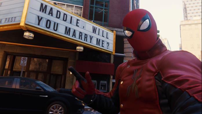 La proposta di matrimonio in Spider-Man