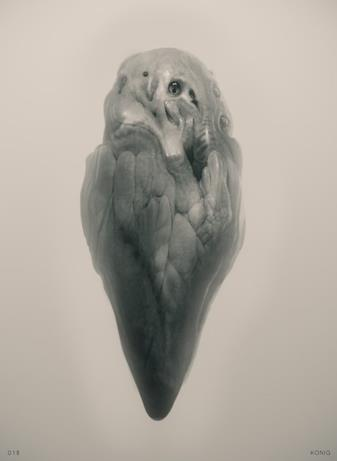 Arrival, nel secondo concept art di Konig è ritratto un alieno che ricorda un insetto in metamorfosi.